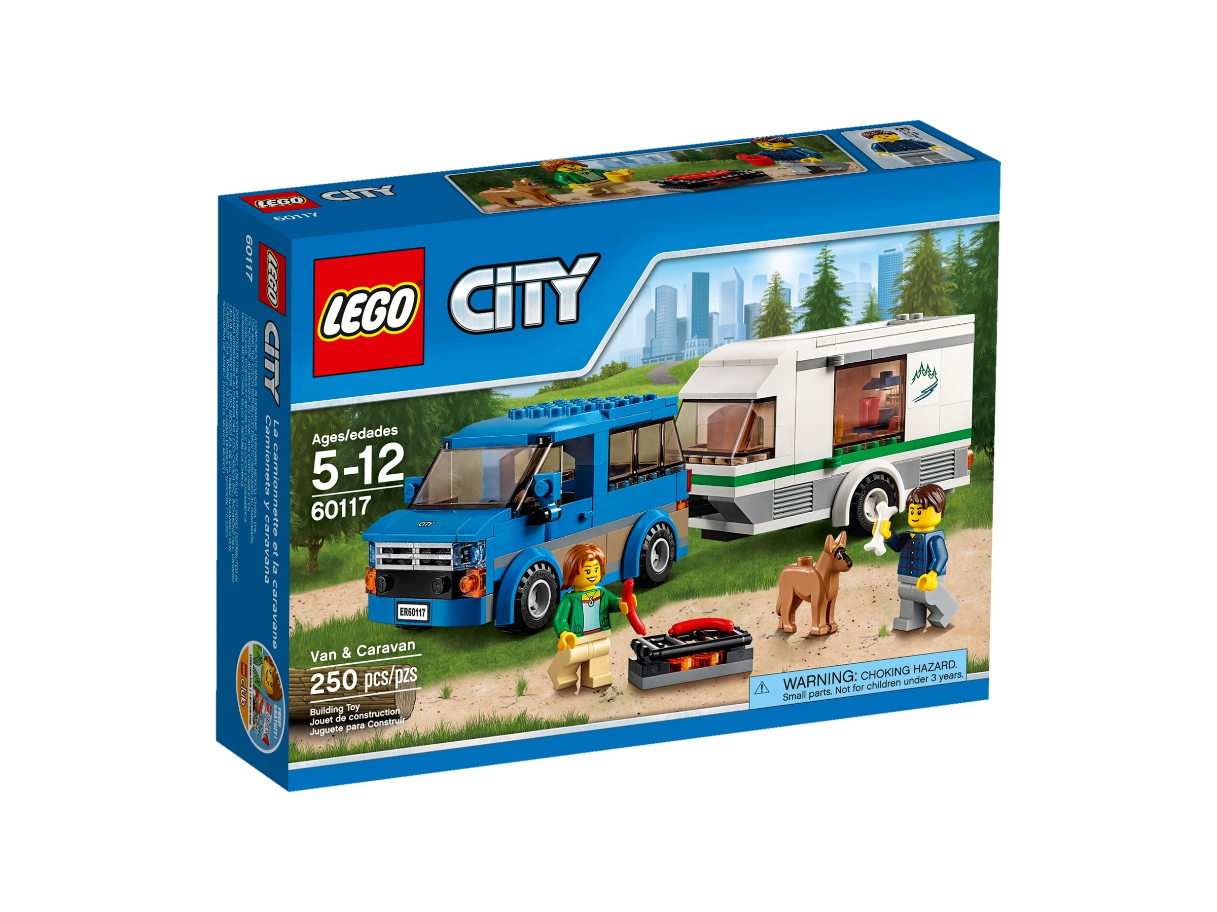 CAR AND CARAVAN INSTRUCTIONS ONLY 60117 LEGO CITY