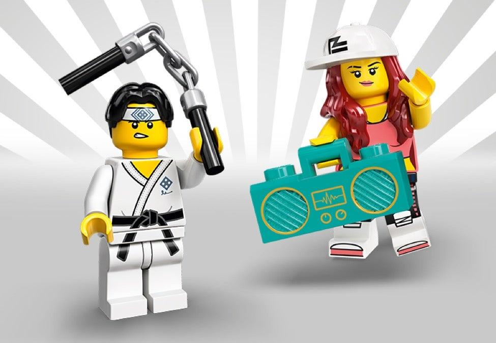 Genuine Lego 71027 Minifigure Series 20 w//Poster no.14 80s Musician