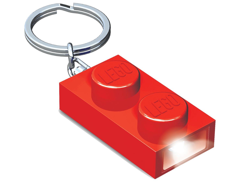 Llavero con luz de ladrillo 1x2 LEGO® (Rojo)
