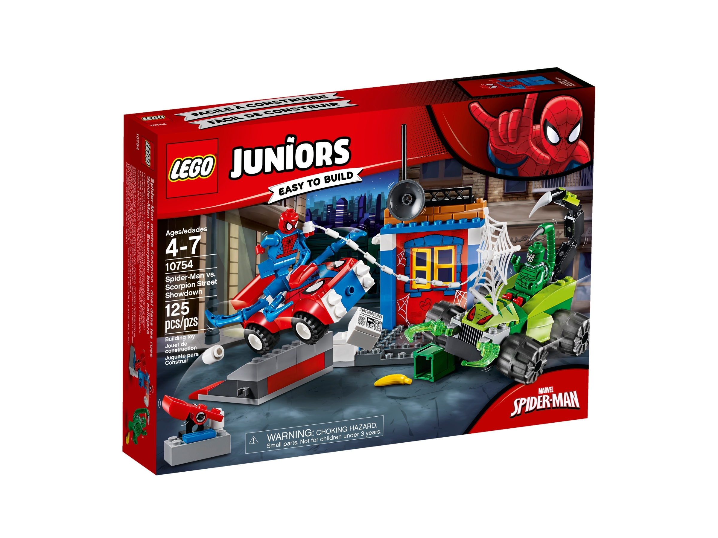 LEGO Juniors//4 Marvel Super Heroes Spider-Man vs Scorpion Street Showdown