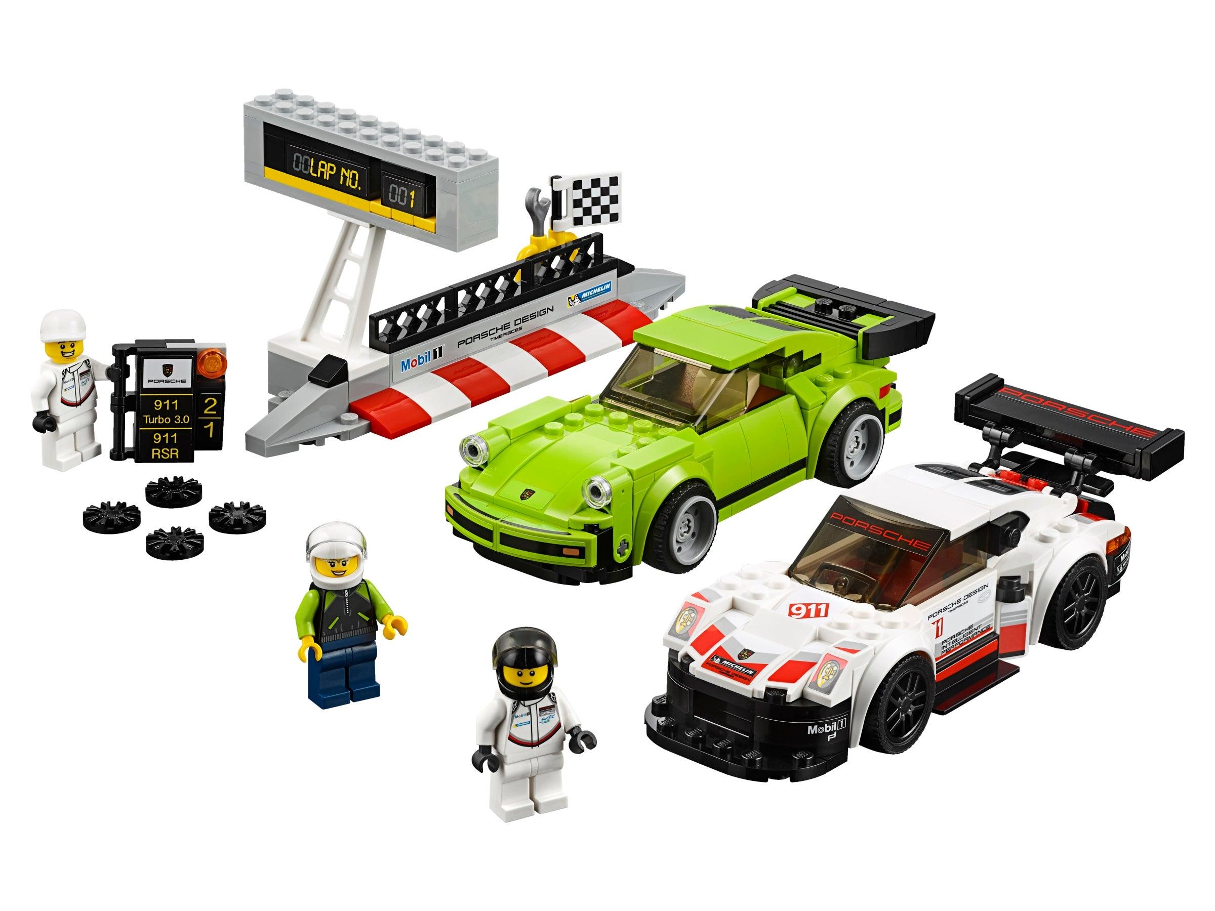 No sc078 LEGO Minifigure Speed Champions // Porsche 911 Turbo Driver QTY 1