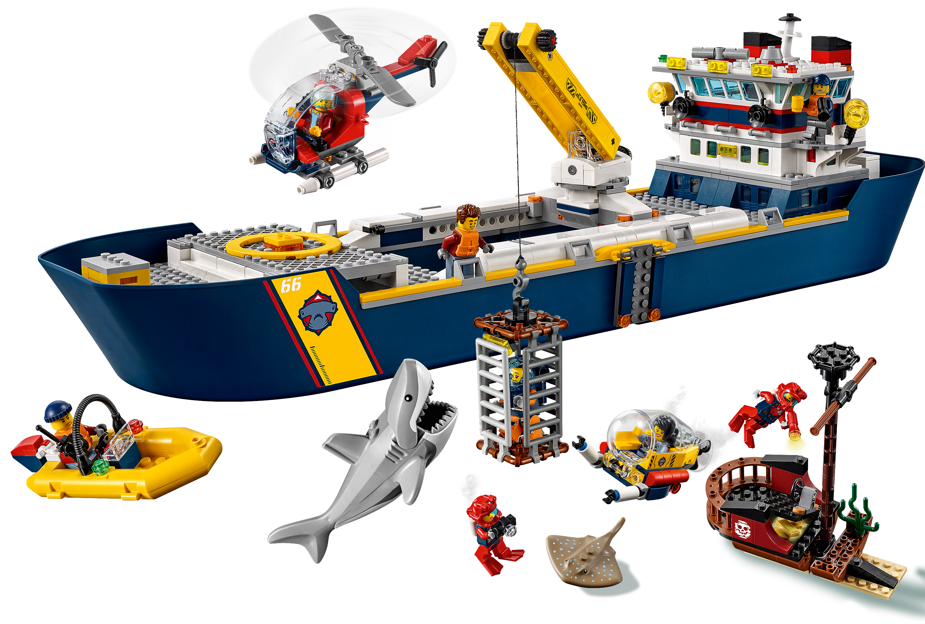 Ocean Exploration Ship 60266 City Buy Online At The Official Lego Shop Us