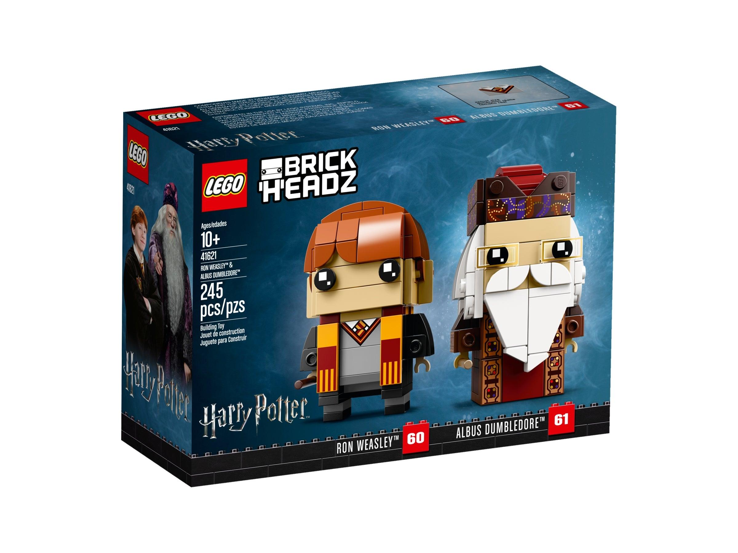 Brand New LEGO 41621 BrickHeadz Ron Weasley /& Albus Dumbledore