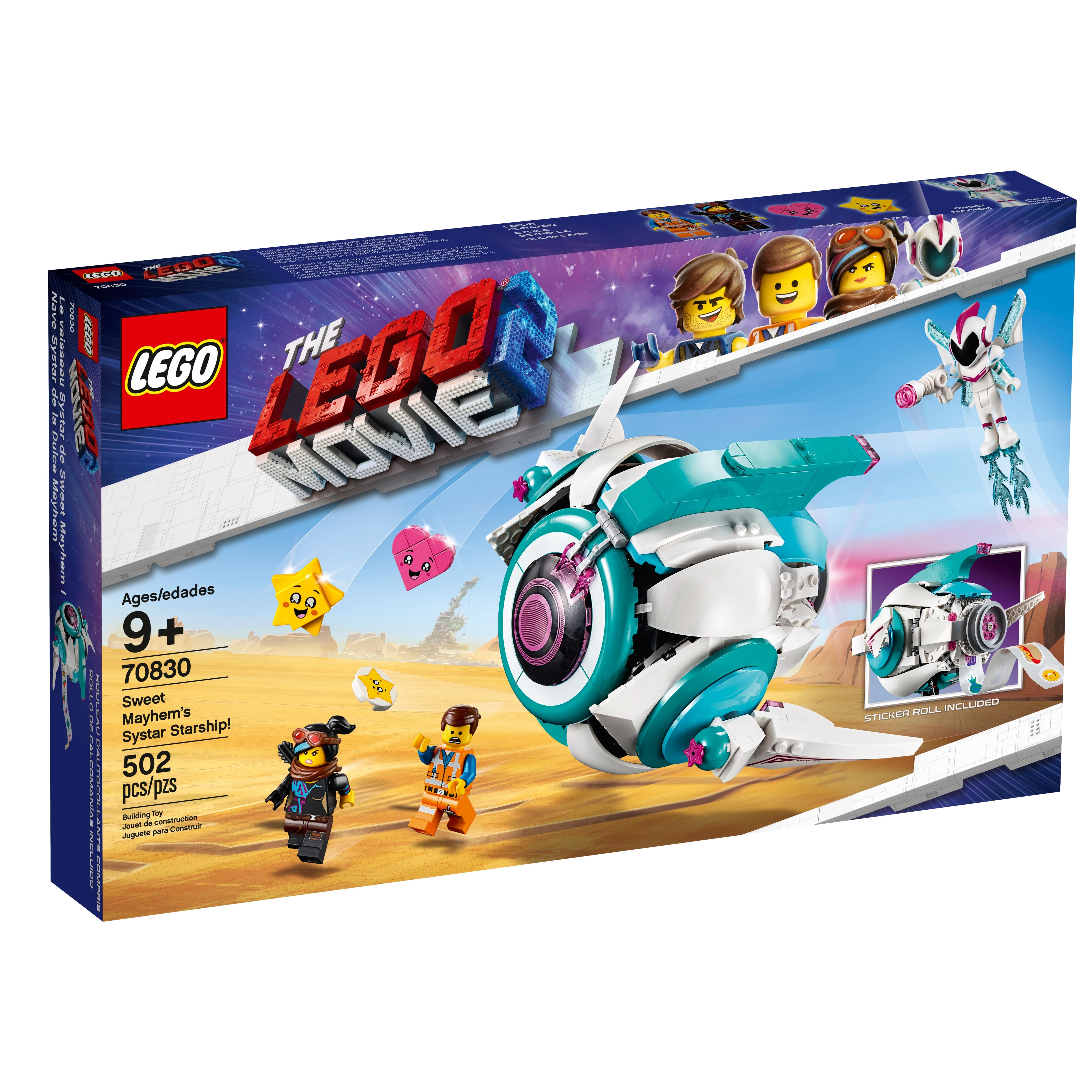 70830 NIB LEGO® Lego Movie 2 Sweet Mayhem/'s Systar Starship
