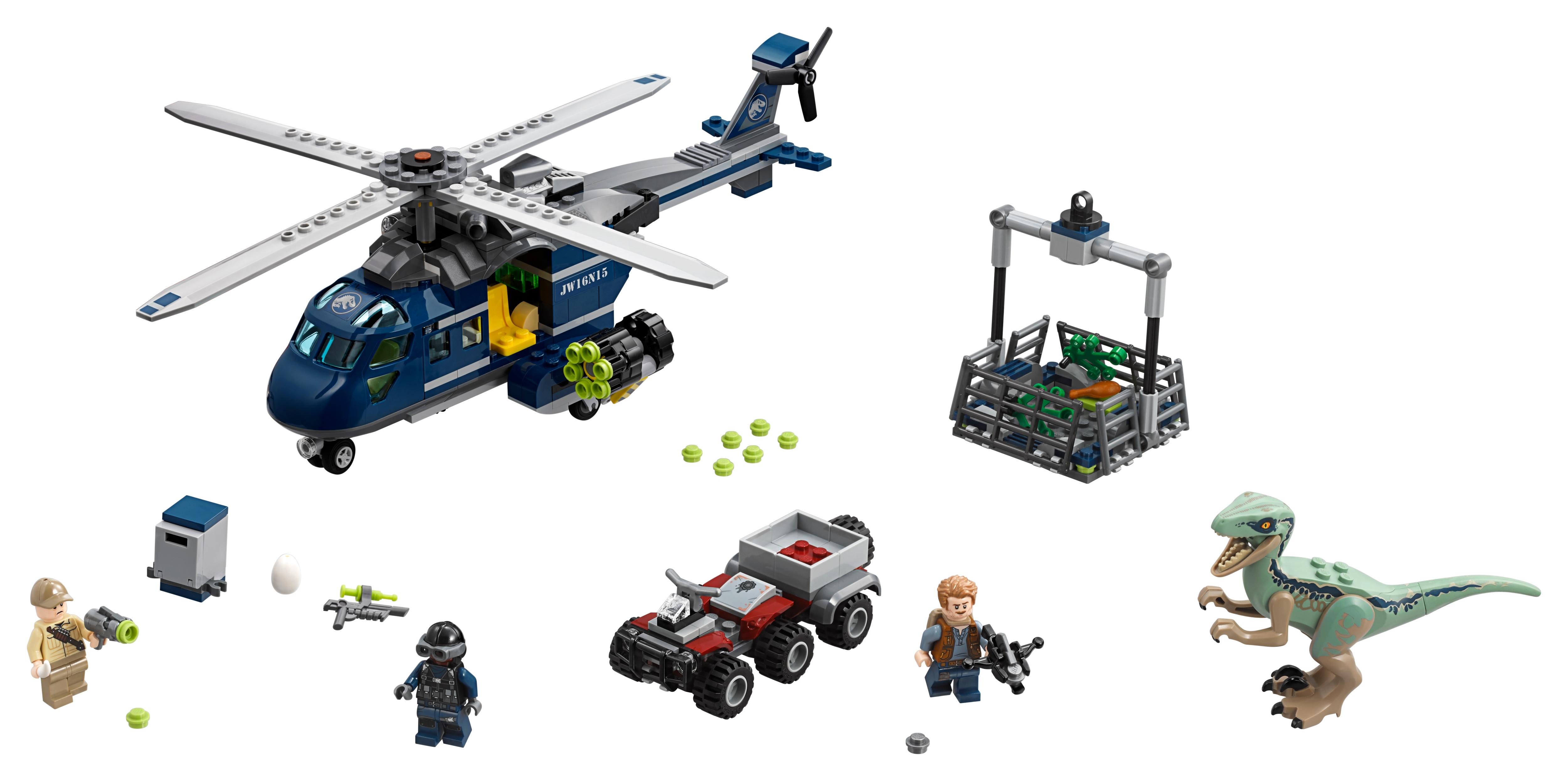 Lego 75928 Jurassic World Blue/'s helicóptero Pursuit set