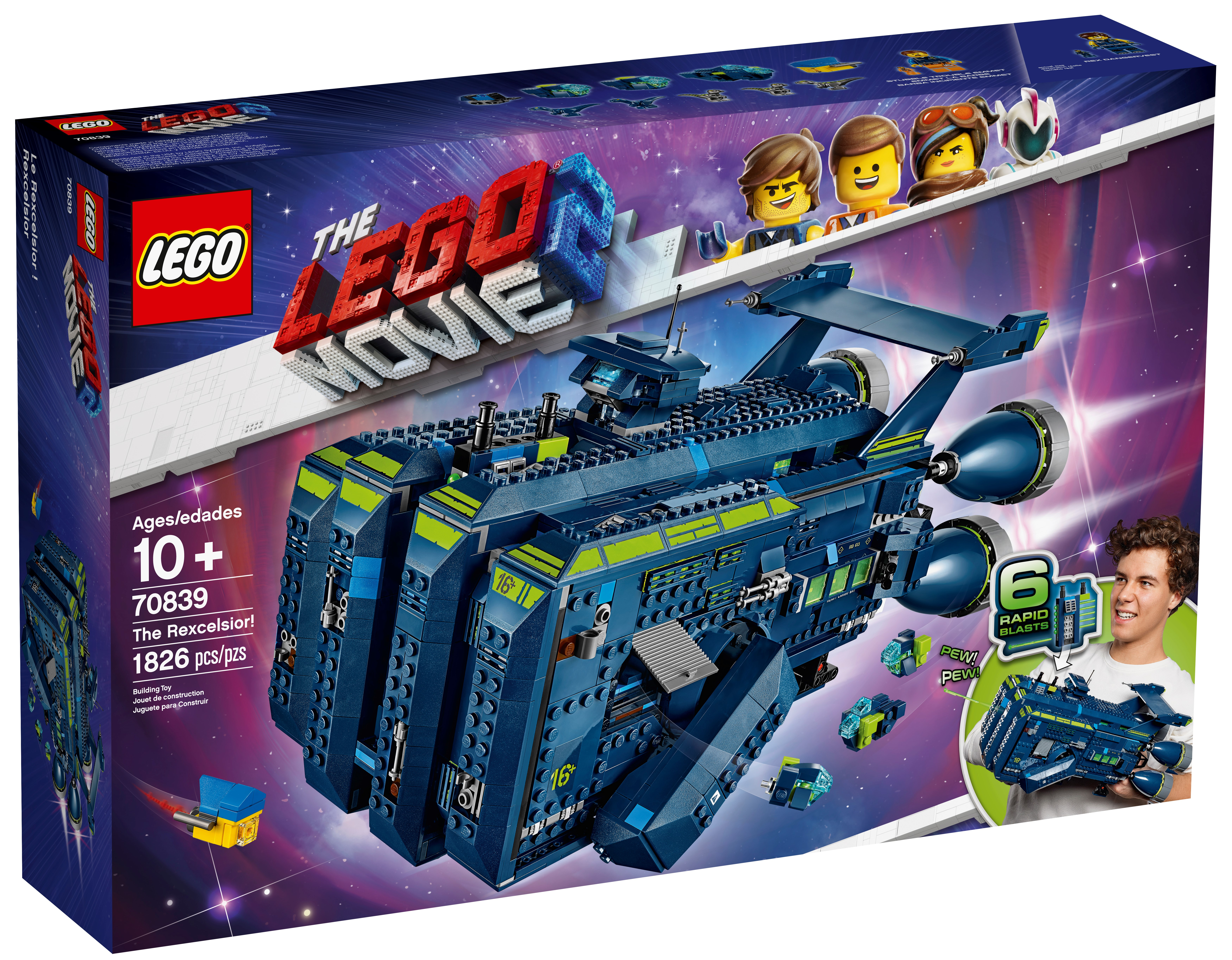 LEGO THE LEGO MOVIE 2 Rex/'s Rexplorer Spaceship Toy with Dinosaur Figures 1172 Pieces 70835 Building Kit Discontinued by Manufacturer
