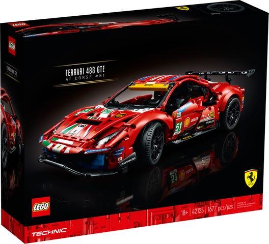 Ferrari 488 Gte Af Corse 51 42125 Technic Buy Online At The Official Lego Shop De
