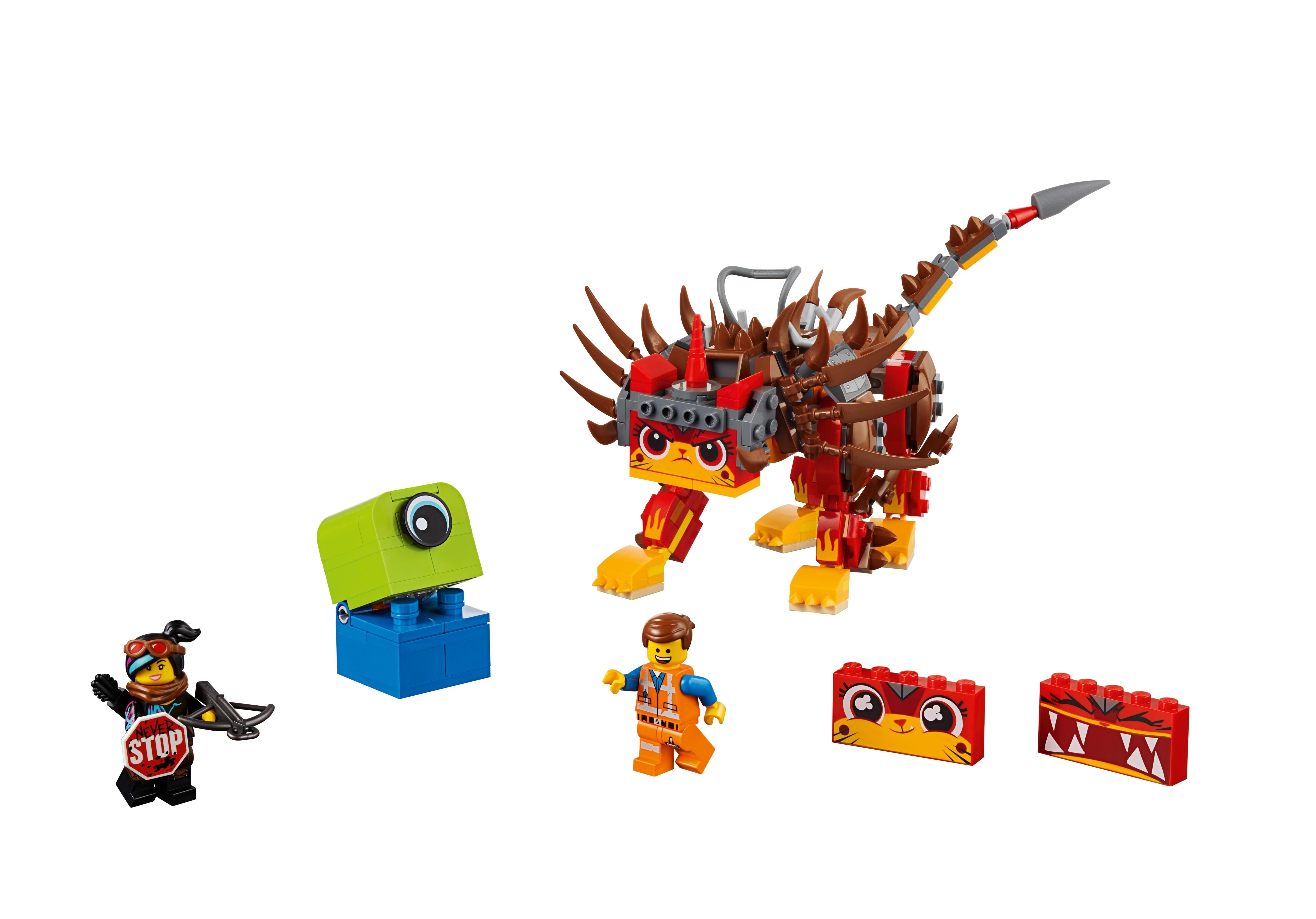 Lego Movie 2 Ultrakatty /& Warrior Lucy Set 70827 Emmet Minifigure 348 Pieces New