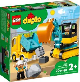 Camión y Excavadora con Orugas