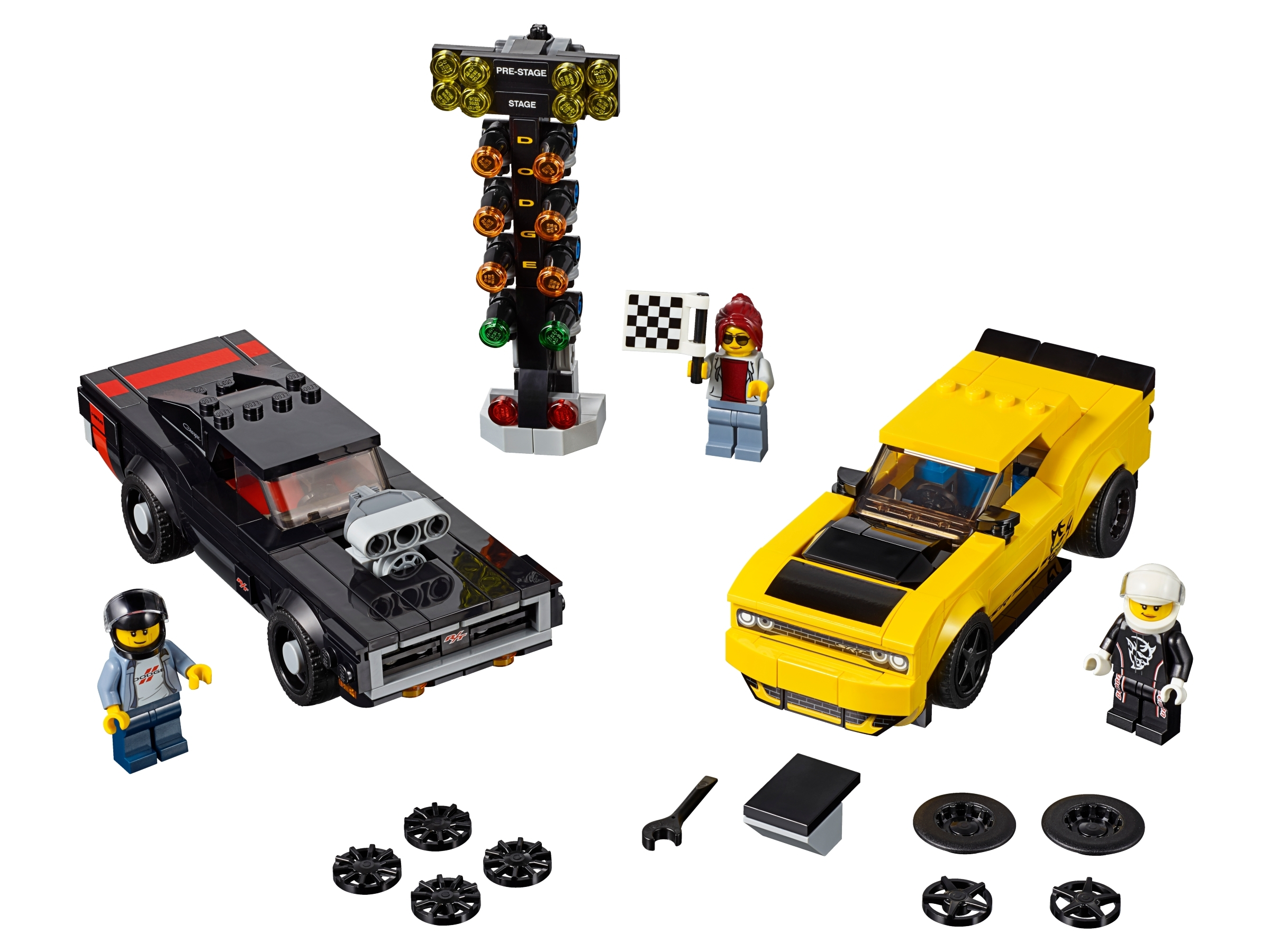 2018 Dodge Challenger Srt Demon And 1970 Dodge Charger R T 75893 Speed Champions Buy Online At The Official Lego Shop Us