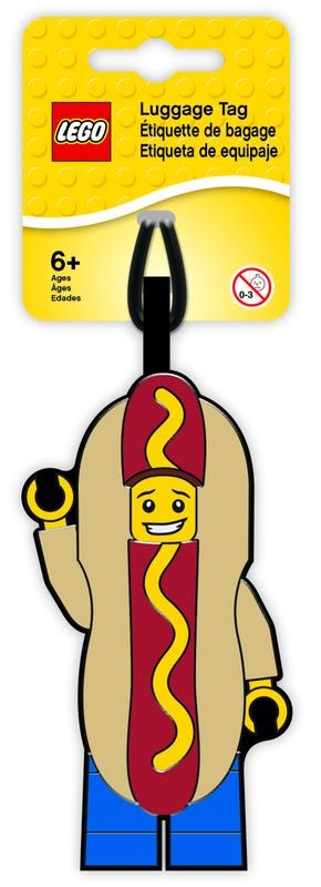 LEGO® Hot Dog Guy Luggage Tag