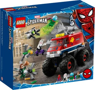Spider-Man's monstertruck vs. Mysterio