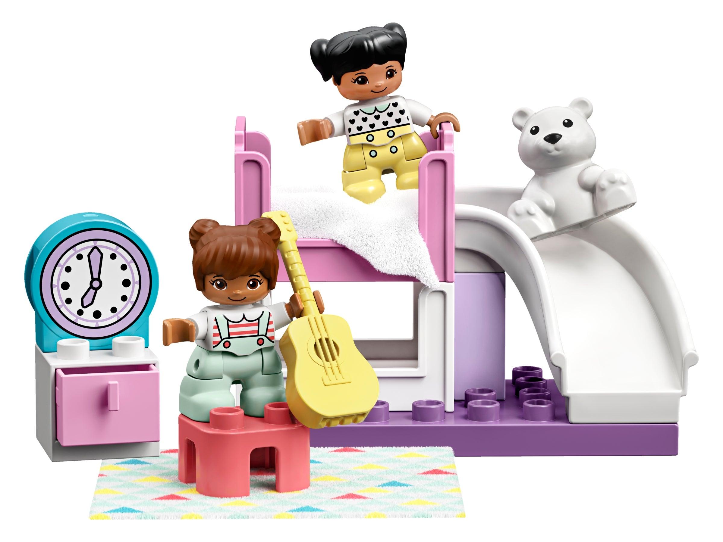 Lego Duplo Ville 1 X Figur Kind Mädchen Clara aus 10926 NEU Zöpfe Schwarz