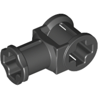 Black Technic Axle Connector with Axle Hole