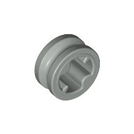 Light Gray Technic Bush 1/2 Smooth with Axle Hole Reduced
