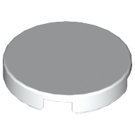 White Tile Round 2 x 2 with Bottom Cross