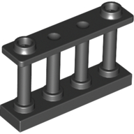 Black Fence Spindled 1 x 4 x 2 [2 Top Studs]