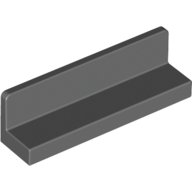 Dark Bluish Gray Panel 1 x 4 x 1 with Rounded Corners [Thick Wall]