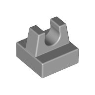Light Bluish Gray Tile Special 1 x 1 with Clip and Straight Tips