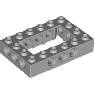 Light Bluish Gray Technic Brick 4 x 6 Open Center