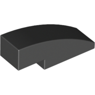 Black Slope Curved 3 x 1 No Studs