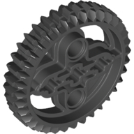 Black Technic Gear 36 Tooth Double Bevel