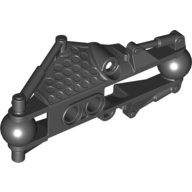 Black Bionicle Piraka Arm Section with Two Ball Joints