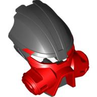 Red Bionicle Mask Kiril with Black Top (Dume)