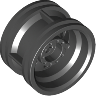 Black Wheel 30.4 x 20 without Pinholes with Reinforced Rim