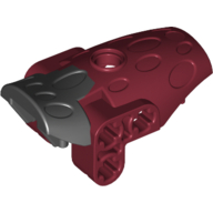 Dark Red Bionicle Hydruka Back Plate with Marbled Black Pattern