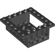 Black Cockpit 6 x 6 x 2 Cabin Base with Technic Holes