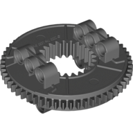 Dark Bluish Gray Technic Turntable Large Type 2 Complete Assembly with Black Outside Gear Section (26/56 Teeth)