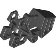 Black Bionicle Foot with Ball Joint Socket with Flat Top 3 x 6 x 2 1/3