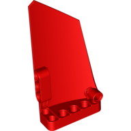 Red Technic Panel Fairing #17 Large Smooth Side A