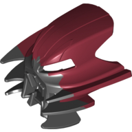 Dark Red Bionicle Mask Jutlin with Black Top (Shapeshifted)