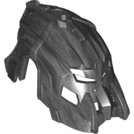 Pearl Dark Gray Hero Factory Mask Dual Sided - Fire Lord/Drilldozer