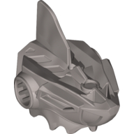 Flat Silver Hero Factory Mask Robotic Shark (Jawblade)