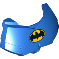 Blue Hero Factory Chest Armor Small with Batman Logo Print