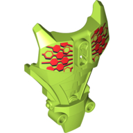 Lime Hero Factory Full Torso Armor with Red Hexagons Print (Breez)