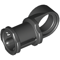 Black Technic Axle and Pin Connector Toggle Joint Smooth