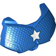 Blue Hero Factory Chest Armor Small with Captain America Star Print