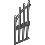 Black Gate 1 x 4 x 9 Arched with Bars and Three Studs