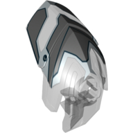Trans-Clear Hero Factory Helmet Visor with Clip with Face Guard Print