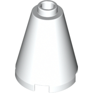 White Cone 2 x 2 x 2 [Completely Open Stud]