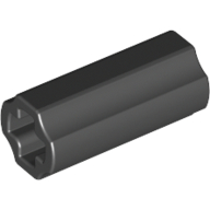 Black Technic Axle Connector Smooth [with x Hole + Orientation]