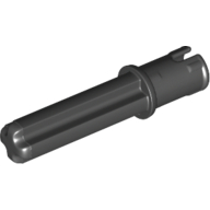 Black Technic Axle Pin 3L with Friction Ridges Lengthwise and 2L Axle