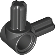 Black Technic Pin Connector Hub with 2 Perpendicular Axles