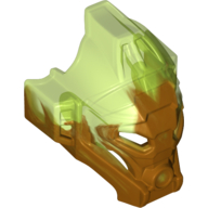 Pearl Gold Bionicle Mask of Jungle with Marbled Trans-Bright Green Pattern