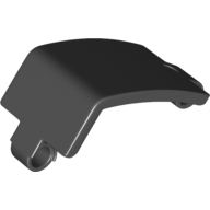 Black Technic Panel Curved and Bent 6 x 3