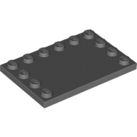 Dark Bluish Gray Tile Special 4 x 6 with Studs on Edges